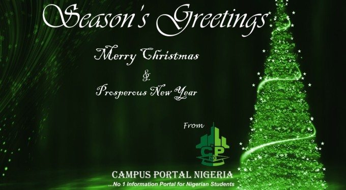 Merry Christmas - Season's Greetings from CampusPortalNG