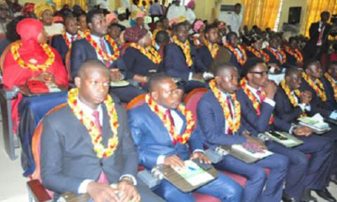 FUNAAB Holds Induction Ceremony Veterinary Medicine Graduates