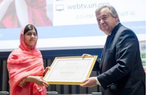 UN Awards Girl-child Rights' Activist Yousafzai Malala Messenger of Peace