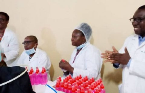 UNILAG Donates Hand Sanitizers To LUTH To Help Fight Covid-19